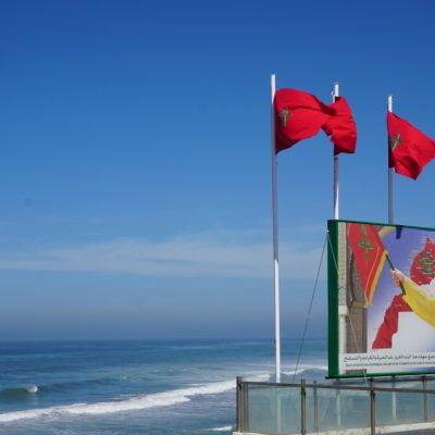 König Mohammed VI ist in Marokko allgegenwärtig, hier am Strand von Casablanca