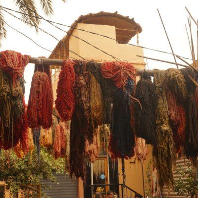 Eine Färberei in Marrakesch