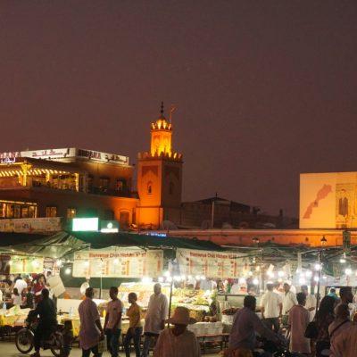 Abendstimmung auf dem Djemaa el Fna (Platz der Gaukler)